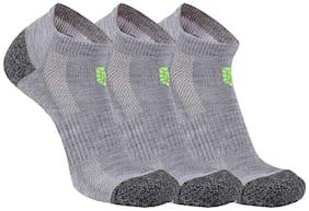 Vamear Grey Cotton Ankle length socks ( 3 pairs )