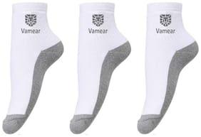 Men Ankle Length Socks 3 Pairs ( White )