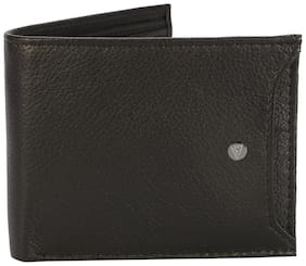 Van Heusen Men Black Leather Bi-Fold Wallet ( Pack of 1 )
