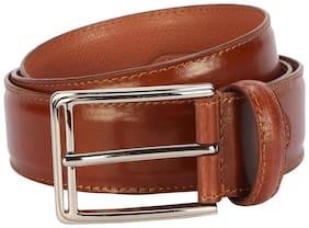 Van Heusen Men Brown Leather Belt (Size: 32 , Pack of 1 )