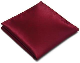 Verceys Silk & Satin Pocket Square - Maroon & Wine
