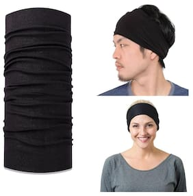 Verceys Men Cotton Headwraps - Black 00e1569bf6d