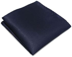 Verceys Satin & Silk Pocket Square - Navy blue & Dark blue