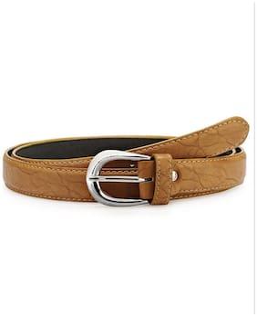 Verceys Trendy Tan Leather Finish Belt For Women