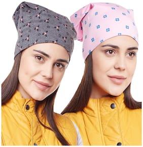 Women Cotton;Blended Caps ( Multi )
