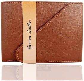 Men Leather Long Wallet Wallet ( Tan )