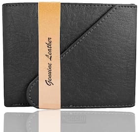 VINISHA ENTERPRISE Men Black Leather Long Wallet ( Pack of 1 )