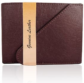 VINISHA ENTERPRISE Men Brown Leather Long Wallet ( Pack of 1 )