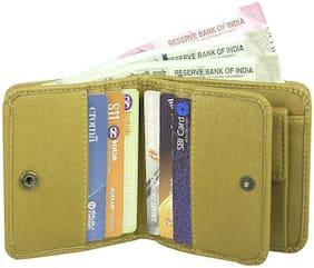 Men Leather Bi-Fold Wallet ( Beige )