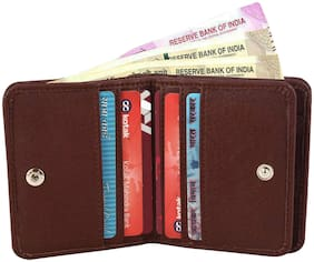 VINISHA ENTERPRISE Men Brown Leather Bi-Fold Wallet ( Pack of 1 )