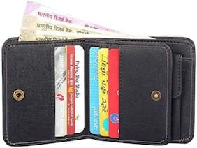 VINISHA ENTERPRISE Men Black Pu Bi-Fold Wallet ( Pack of 1 )