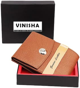 VINISHA ENTERPRISE Men Tan Pu Money Clip Wallet ( Pack of 1 )