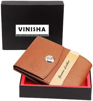 VINISHA ENTERPRISE Men Tan Pu Money Clip Wallet ( Pack of 1 )