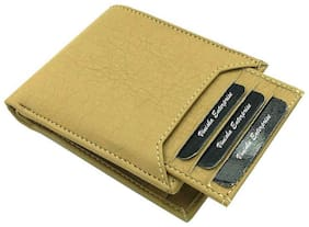 VINISHA ENTERPRISE Men Beige Leather Money Clip Wallet ( Pack of 1 )