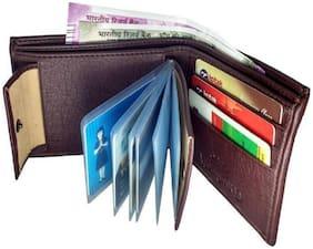 VINISHA ENTERPRISE Men Brown Leather Money Clip Wallet ( Pack of 1 )