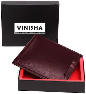 VINISHA ENTERPRISE Men Brown Pu Bi-Fold Wallet ( Pack of 1 )