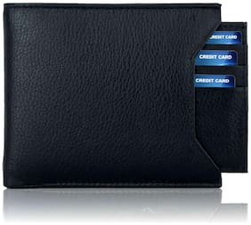VINISHA ENTERPRISE Men Black Leather Bi-Fold Wallet ( Pack of 1 )