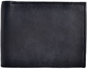 VINSAGE Men Black Leather Bi-Fold Wallet ( Pack of 1 )
