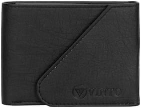 Vinto Men Assorted Pu Money Clip & Long Wallet ( Pack of 1 )