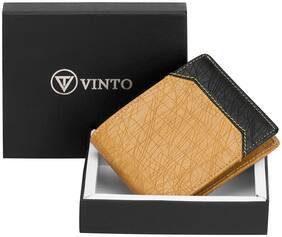 Vinto Men Assorted Leather Bi-Fold Wallet ( Pack of 1 )