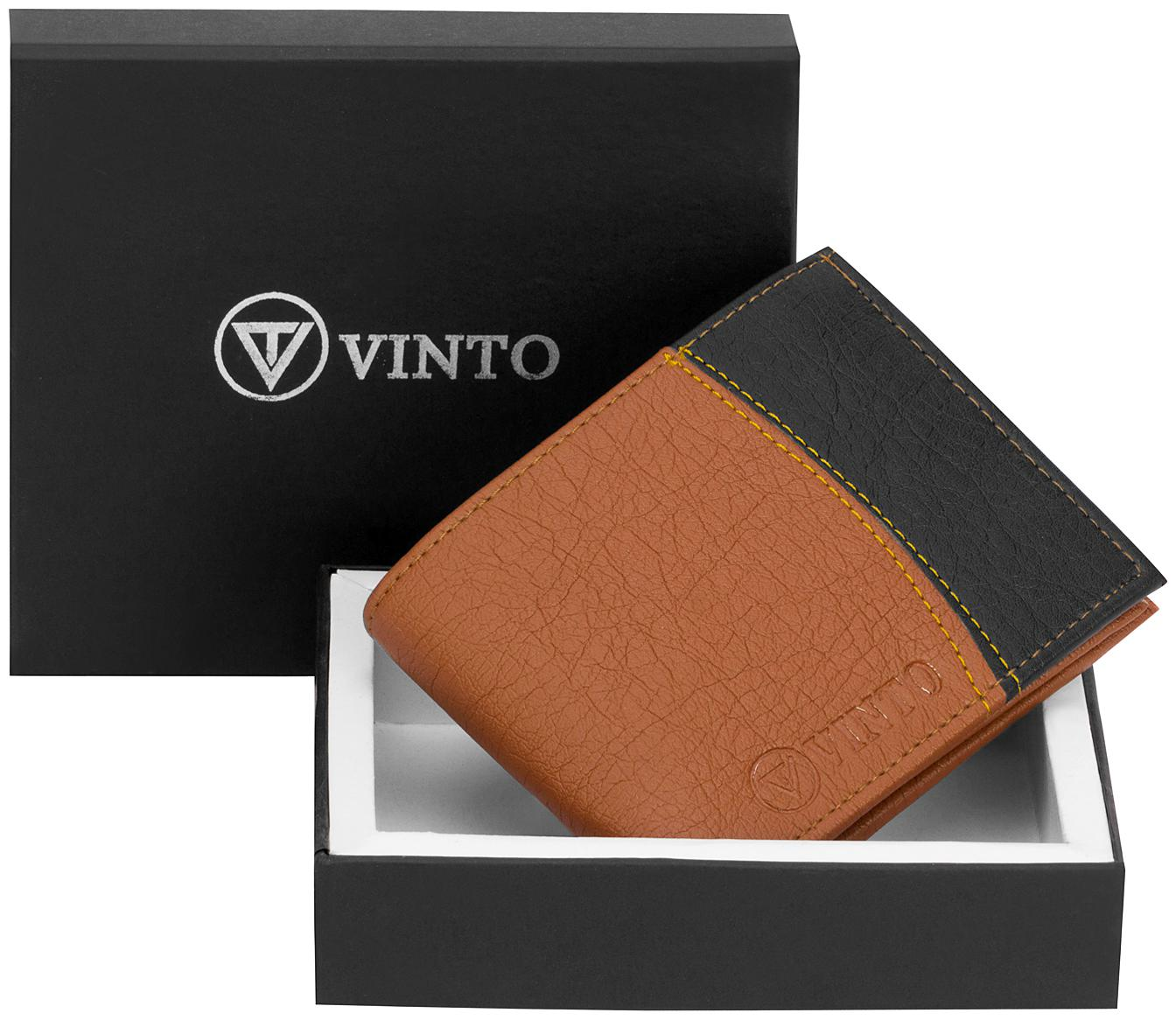 Vinto Stylish Man Artificial Leather Wallet by Vinto Store
