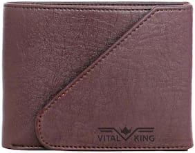 Vital King Brown Artificial Leather Short Wallet
