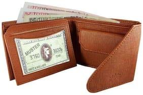 Vital King Boys Tan Artificial Leather Short Wallet (5 Card Slots)