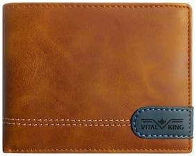 Vital King Men Tan Fine Artificial Leather Wallet (8 Card Slots)