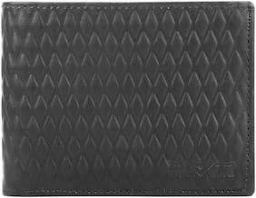 VITAL KING Men Black Genuine Leather Wallet
