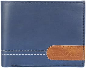 Vital King Men Blue Pure Leather Wallet