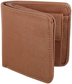 Vital King Tan Artificial Leather Wallet for Men and Boys (10 Card Slots)