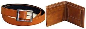 viva  COMBO of Belt & Wallet in TAN Color