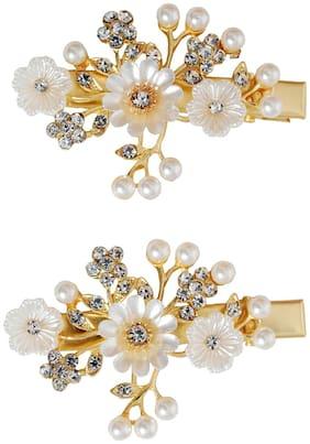 Vogue Hair Accessories Golden Fancy Party Wedding Copper Hair Clip Hair Pins Hair Accessories