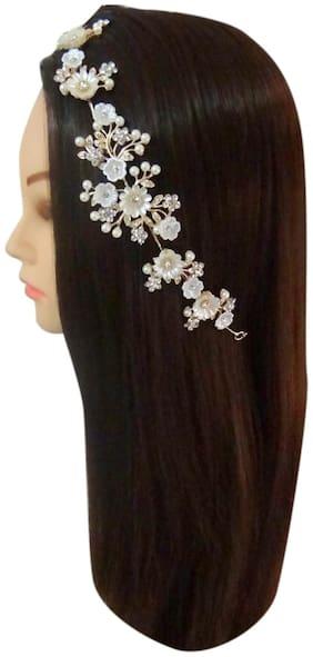 Vogue Hair Accessories Golden Bridal Fancy Hair Accessories Headpiece Headband Hairband Hair Clip Wedding Tiara Premium Quality