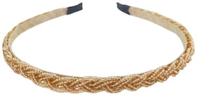 VOGUE New Limited Edition Golden Braid Beaded Fancy Party Wedding Hairband Headband Hair Accessories