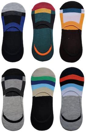 Voici Multi Cotton No show socks ( Pack of 6 )