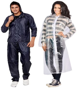 VRD Combo of Men & Women Rain Coat