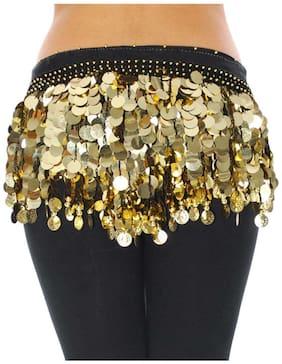 VRITRAZ Women Chiffon Scarves - Gold