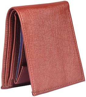 Wallet For Men in Brown Leatherite with Separable Card Holder Part