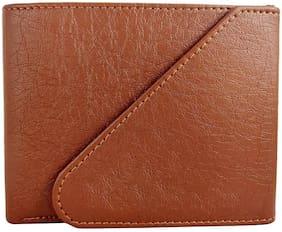 VINISHA ENTERPRISE Men Tan Pu Tri Fold Wallet ( Pack of 1 )