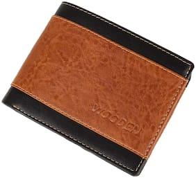 Men PU Bi-Fold Wallet ( Tan )