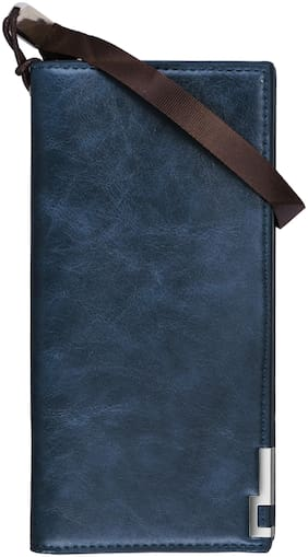 WALRUS Men Blue Pu Long Wallet ( Pack of 1 )