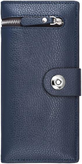 WALRUS Men Blue Pu Long Wallet ( Pack of 1 )