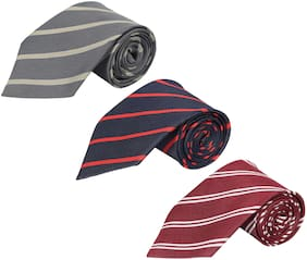 Wamson striped polyester tie for men's