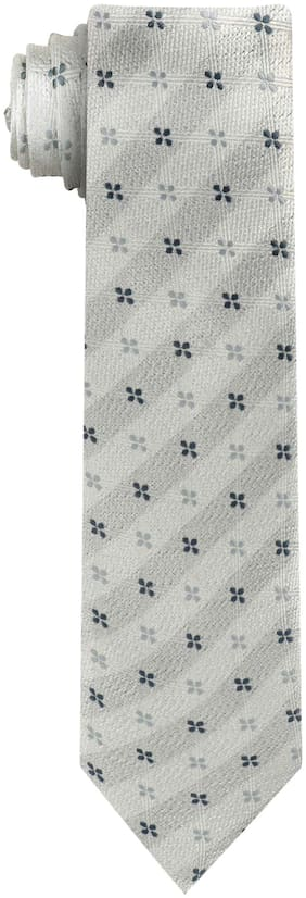 Wamson White Stylish design Formal and Party Wear Microfibre Tie