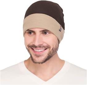 Warmline Woolen Brown & Grey Reversible Men's Cap