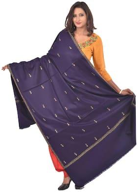 Weavers Villa Women Wool Shawl - Blue
