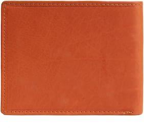 Wenz Men Tan Leather Bi-Fold Wallet ( Pack of 1 )
