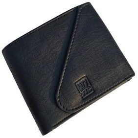 WZ WENZEST Men Pu Tri Fold Wallet - Black