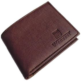 WZ WENZEST Men Brown Leather Bi-Fold Wallet ( Pack of 1 )